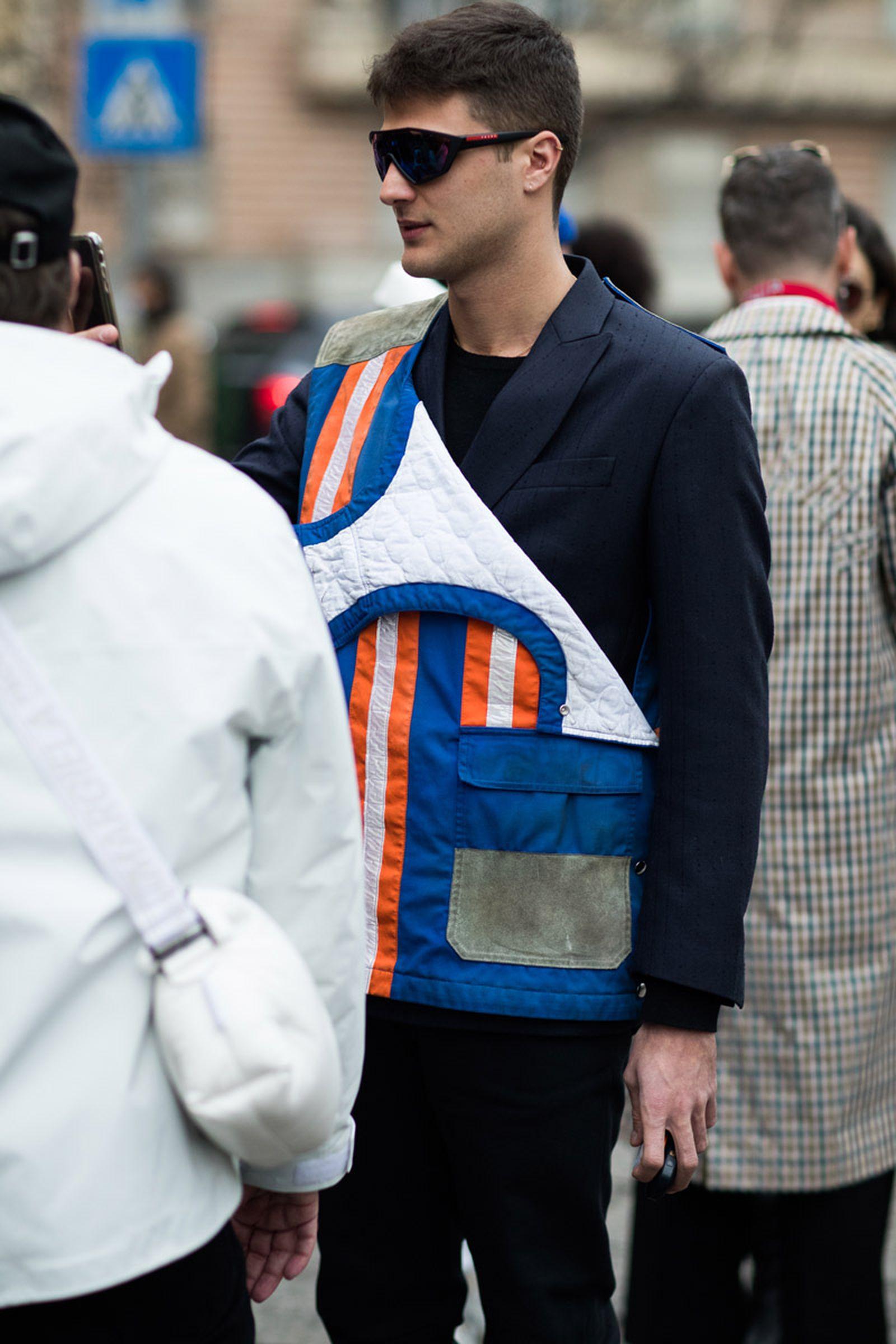21milan fashion week street style 032c HBA x Colmar Supreme