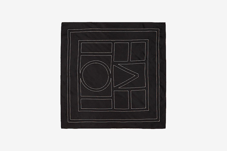 Logo-Embroidered Silk Scarf