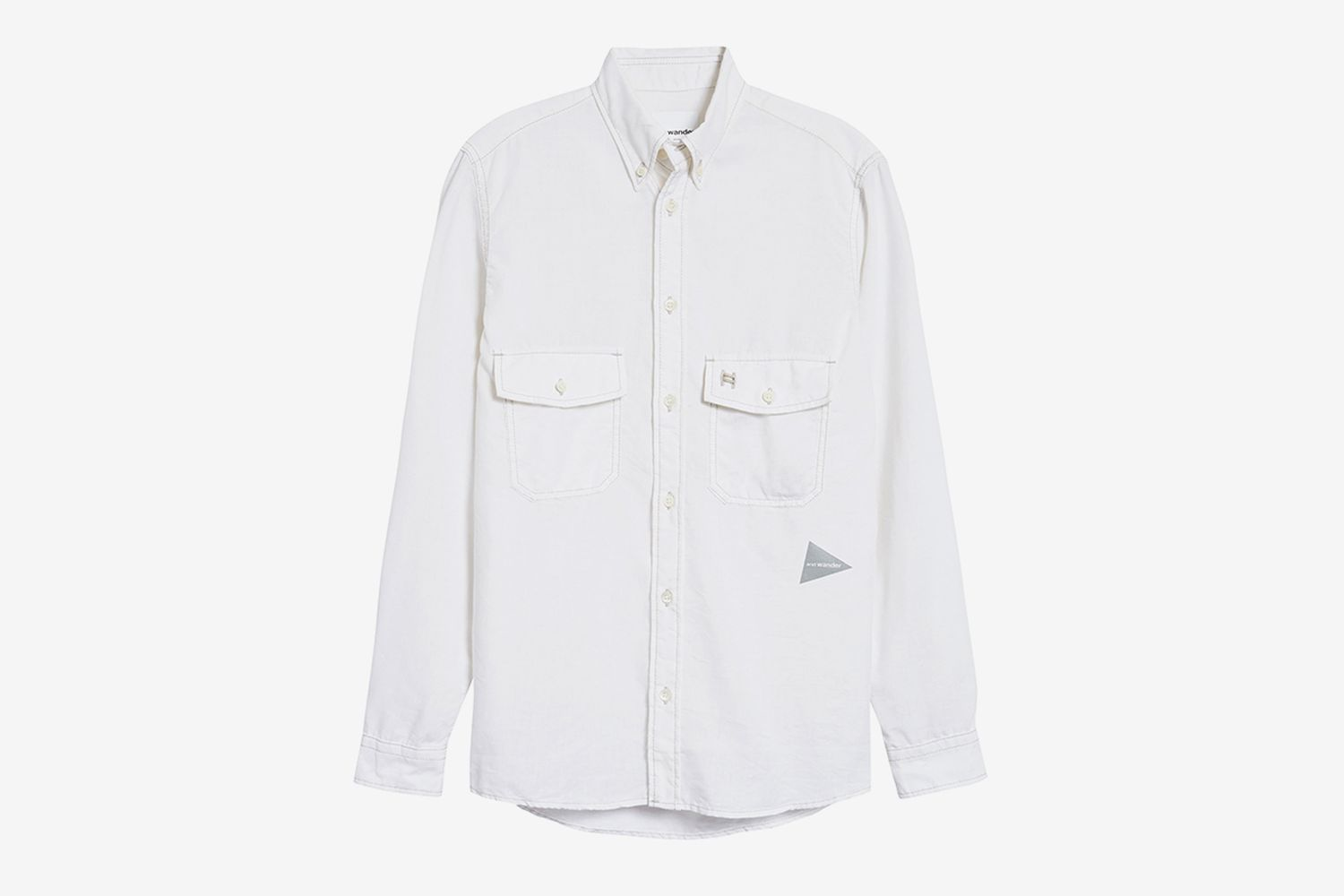 Dry Linen Blend Button-Down Shirt