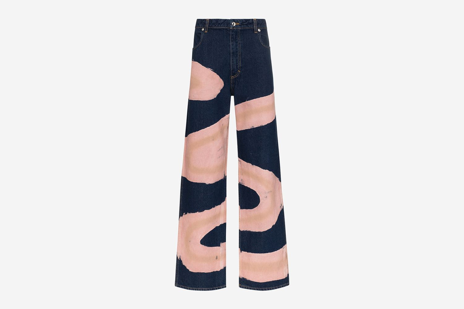 Printed Wide-Leg Jeans