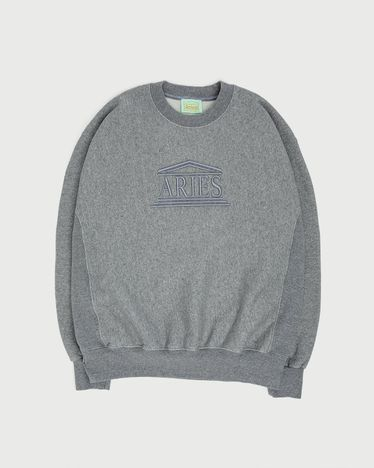 Aries - Embroidered Temple Sweatshirt Unisex Gray