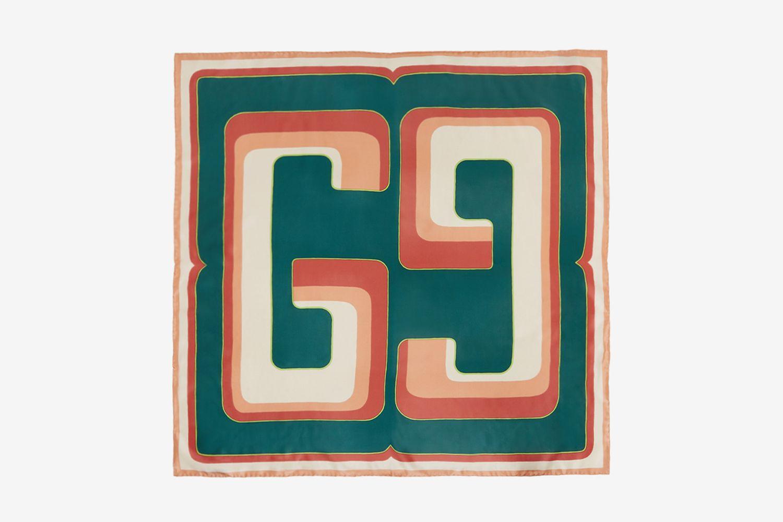 Square GG Scarf