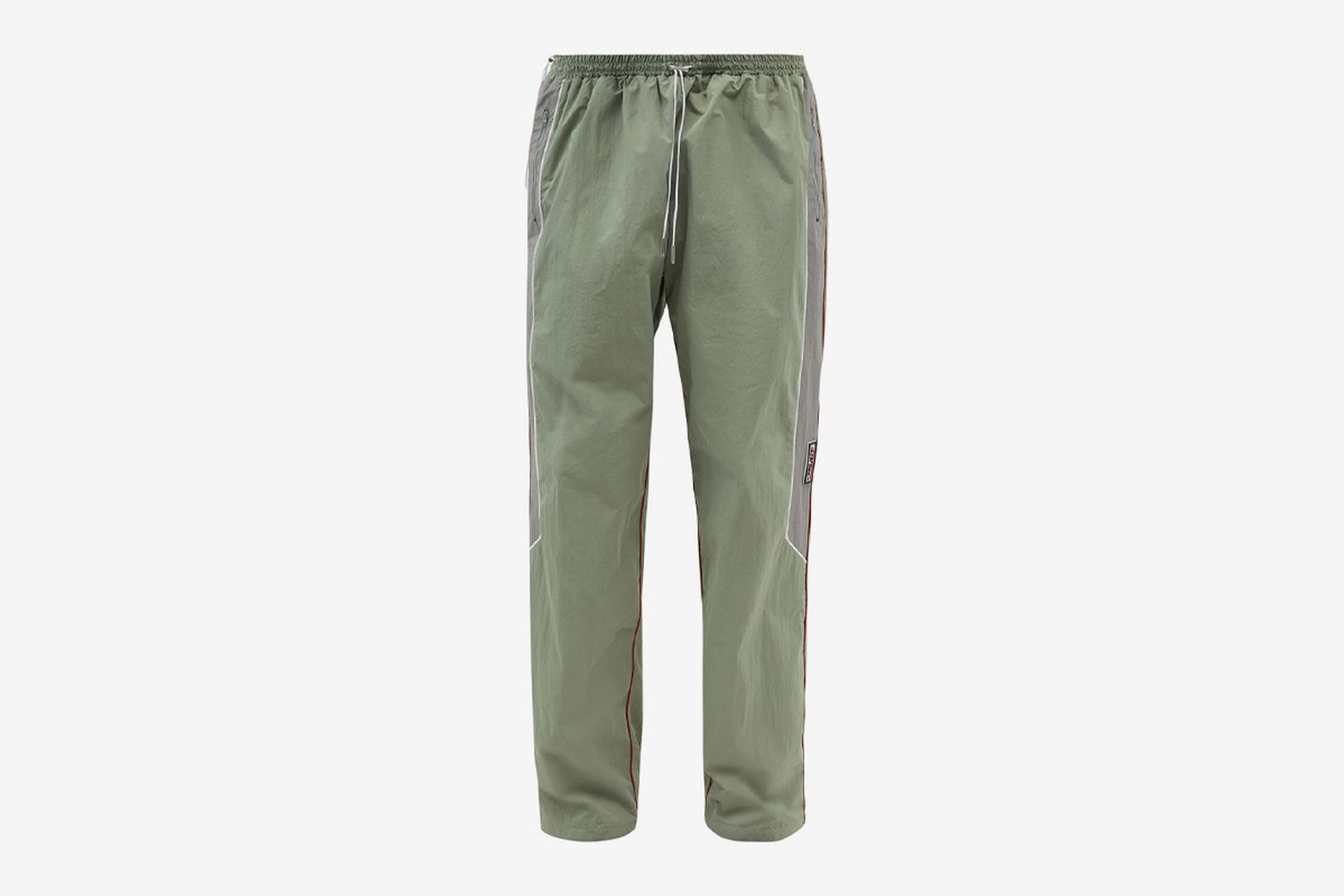 Layered-Front Shell Track Pants