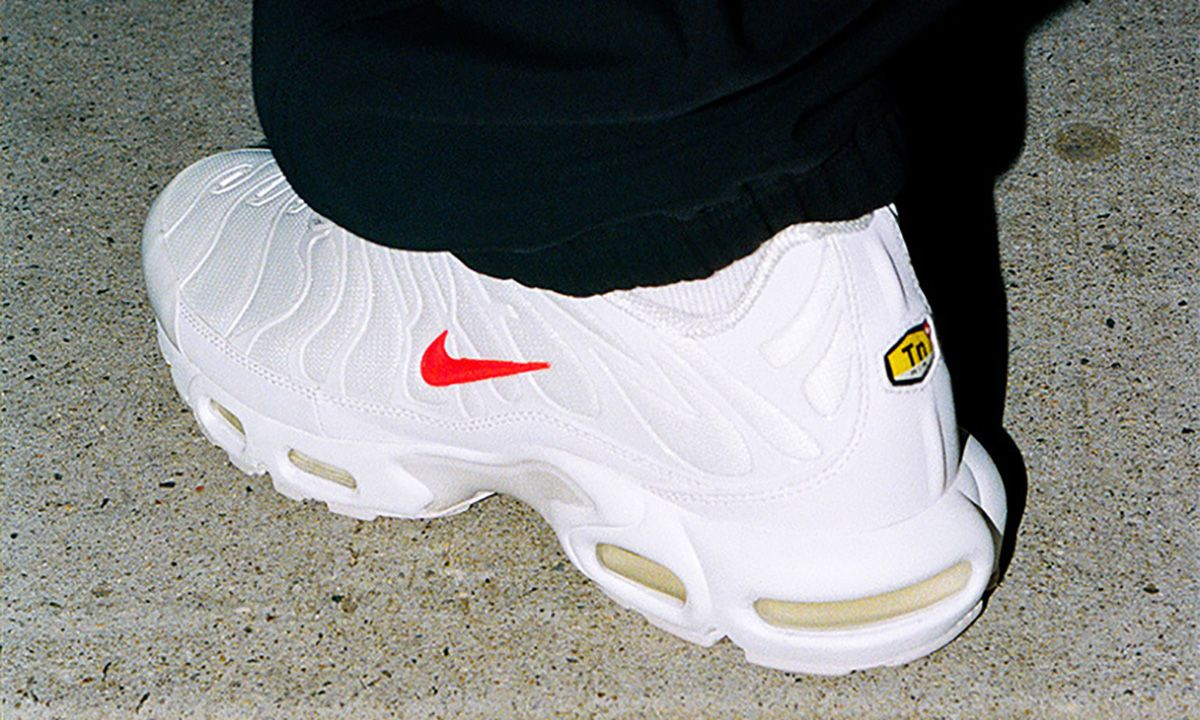 The All-White Supreme x Nike Air Max Plus Is Dropping Today