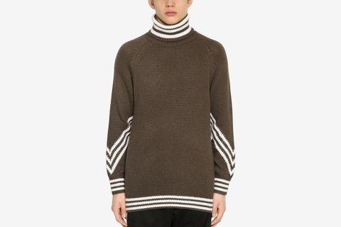 3 Stripes Turtleneck Sweater