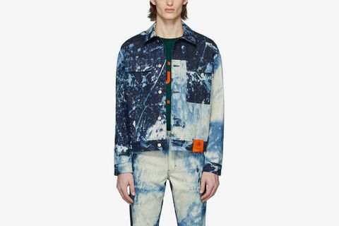 SOTO Hand-Bleached Denim Jacket
