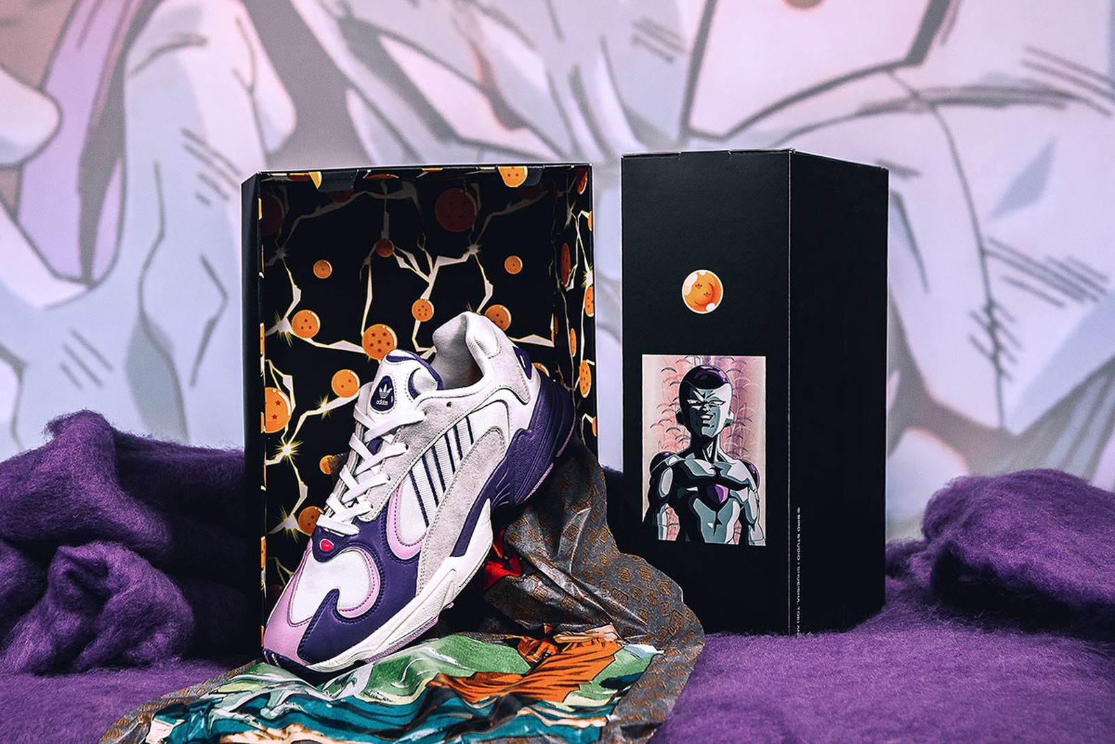 "letra Alinear Hecho un desastre  Dragon Ball Z' x adidas Yung-1 ""Frieza"": Where to Buy Today"