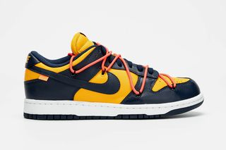 "san francisco db7eb 23855 Off-White x Nike Dunk Low ""Michigan"": First Look at Leaked ..."