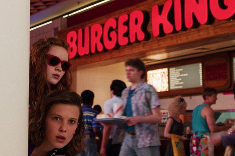 stranger things Burger King still