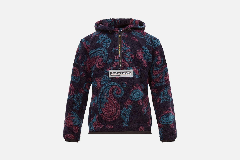 Half Zip Paisley Fleece Jacket