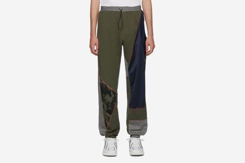 Over Stitch Patchwork Lounge Pants