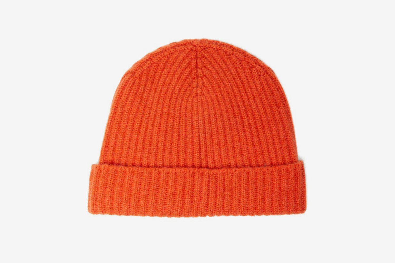 Alex Ribbed Cashmere Beanie Hat