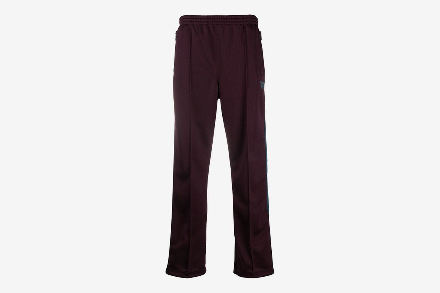 High-Waisted Straight Leg Track Trousers