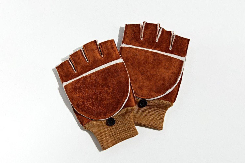 Shearling Convertible Gloves