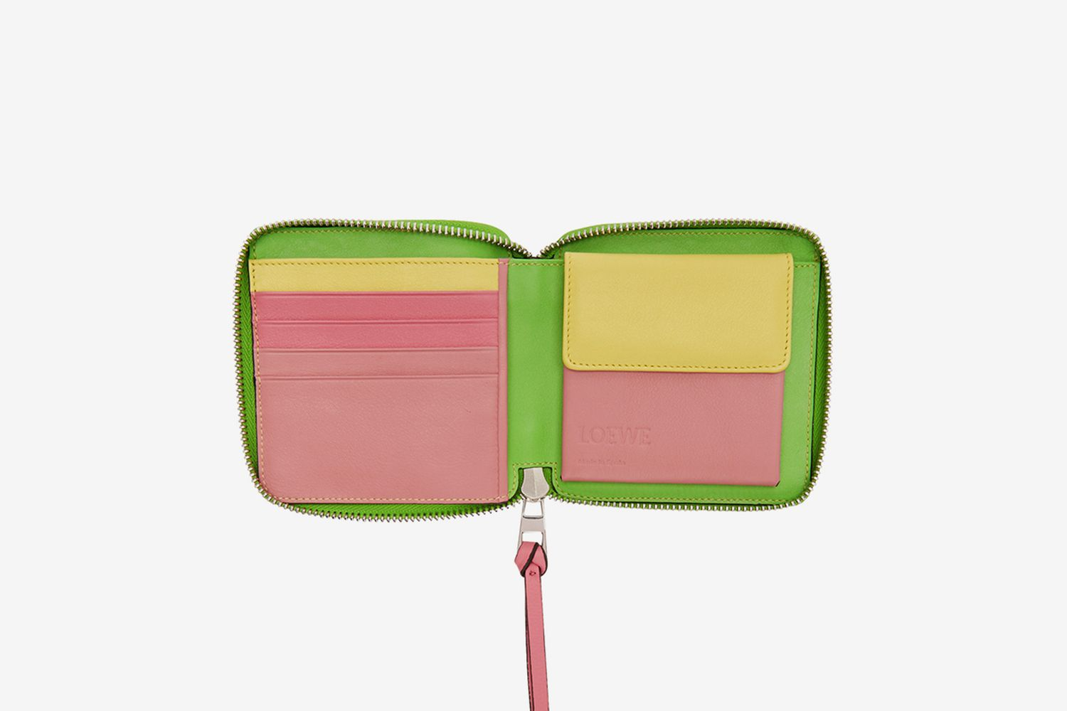 Rainbow Square Zip Bifold Wallet
