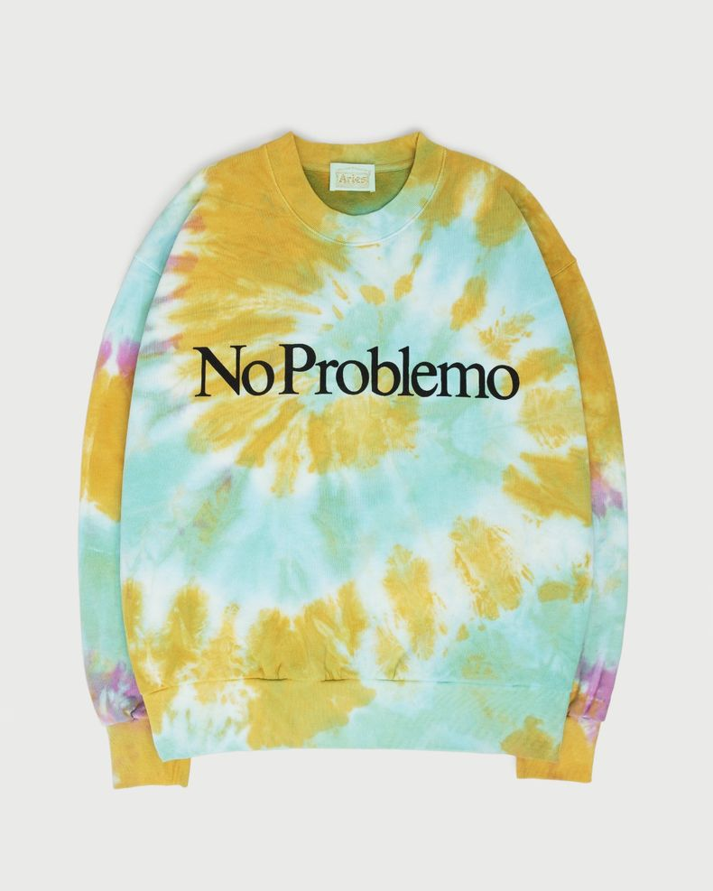 Aries — No Problemo Tie Dye Sweatshirt Multicolor