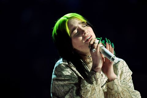 Billie Eilish performs onstage during the 62nd Annual GRAMMY Awards