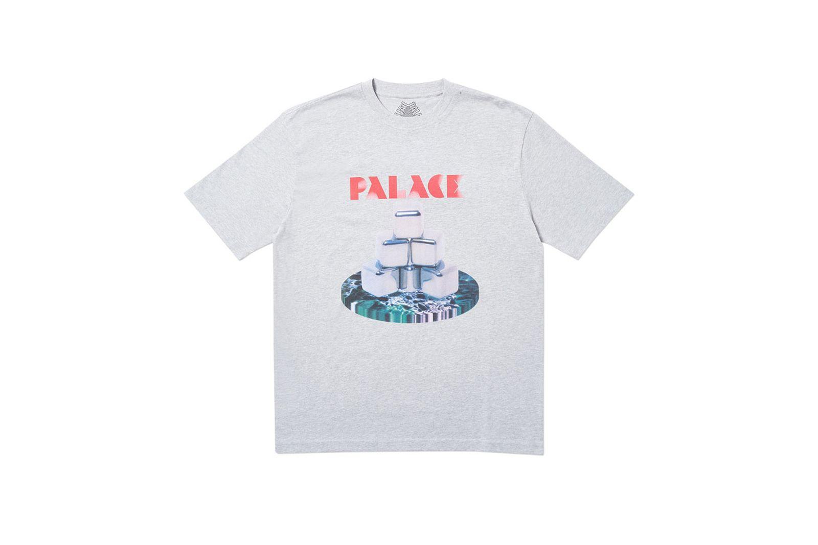 Palace 2019 Autumn T Shirt P Cubes grey marl