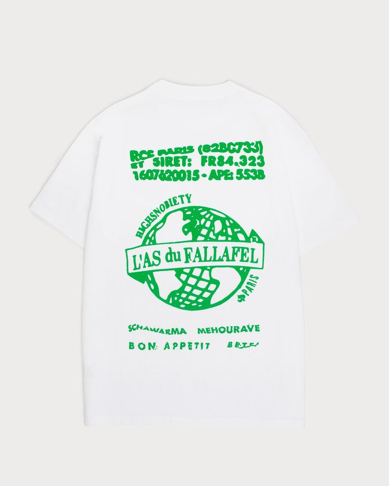 Highsnobiety x L'AS du FALLAFEL — Logo T-Shirt White