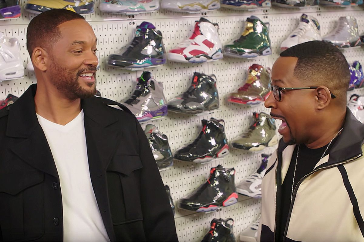 Watch Will Smith & Martin Lawrence Talk Iconic Movie Kicks on 'Sneaker Shopping' 1