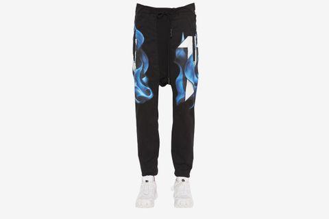 Printed Cotton Jersey Pants