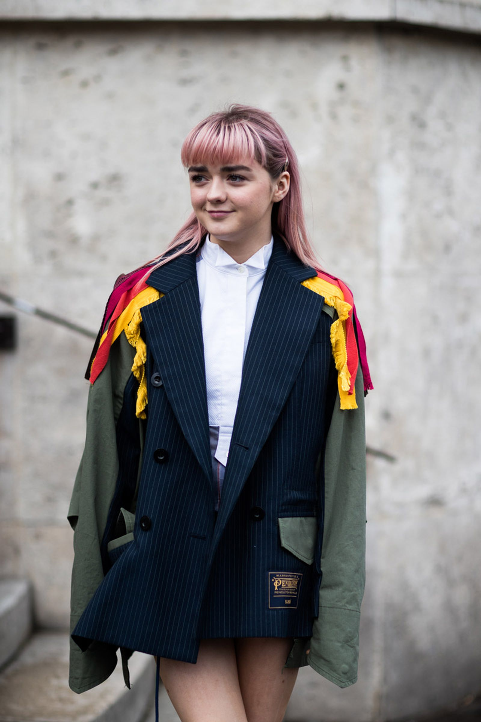 4paris fashion week womens street style fw19 Maisie Williams Maison Margiela Michèle Lamy