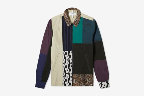 Over & Out Mapp Upcycled Patchwork Shirt