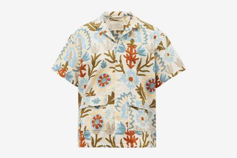 Leaf-Appliqué Shirt