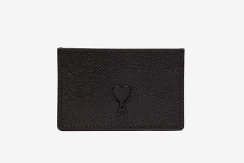Logo-Patch Leather Cardholder