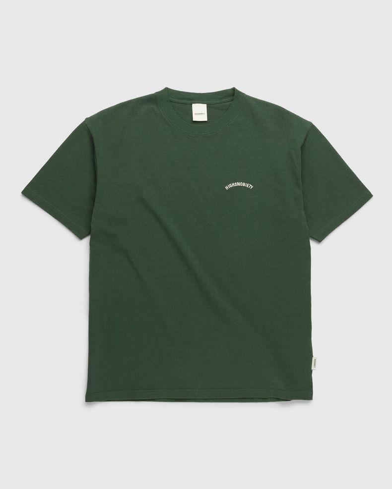 Highsnobiety – Classic Heavy Logo T-Shirt Campus Green