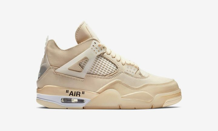 "off-white air jordan 4 ""Sail"""