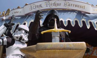 It Did Not Take Long – Darth Vader & Stormtroopers Visit Disneyland