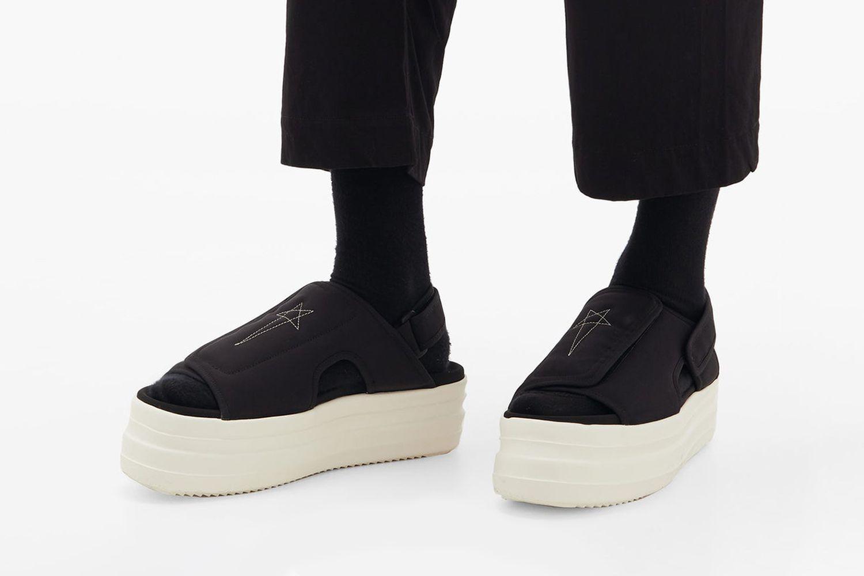 Double Bumper Canvas Sandals