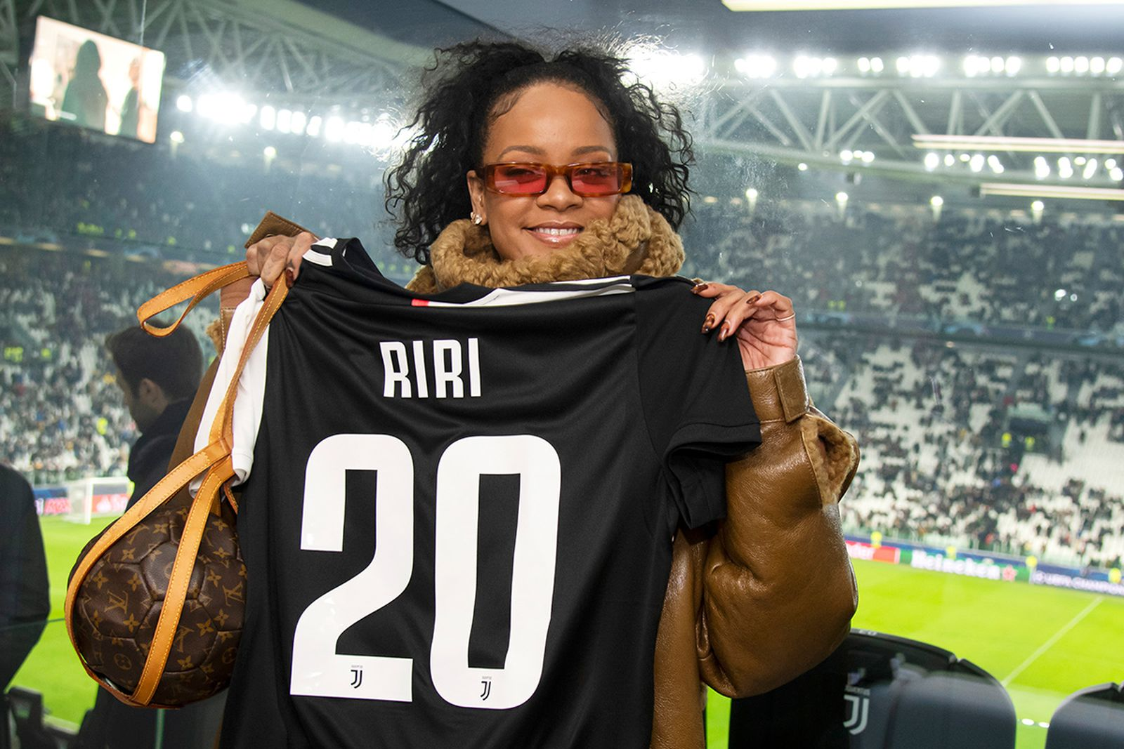 rihanna is all in on the juventus hype after attending ucl match juventus hype after attending ucl match