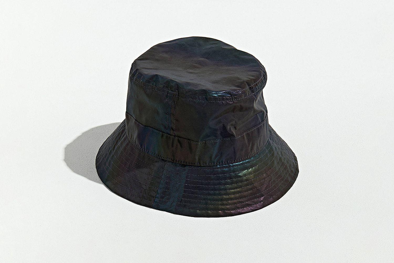 Iridescent Nylon Bucket Hat