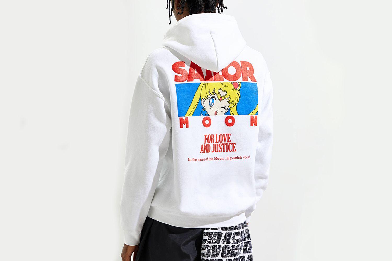 Sailor Moon Puff Print Hoodie Sweatshirt