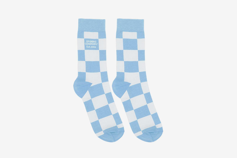 Check Box Logo Socks