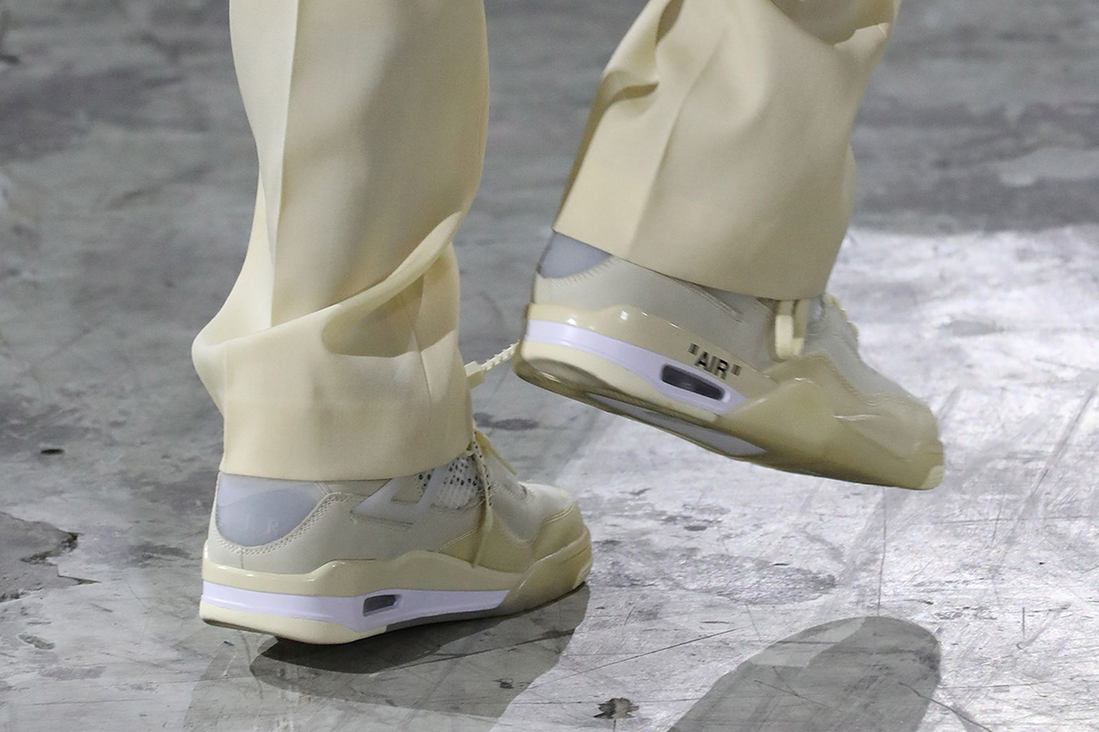 Nike x Off-White Air Jordan shoes during the Off-White show as part of the Paris Fashion Week