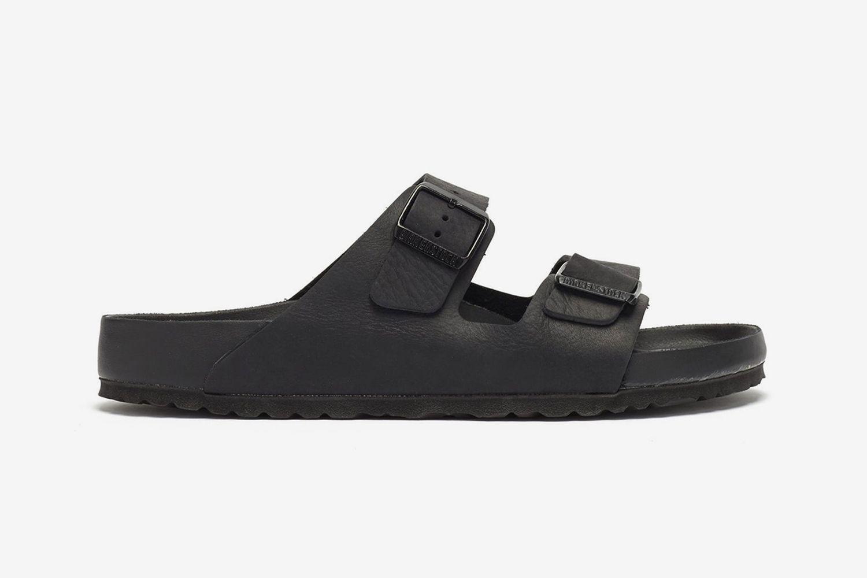 Arizona Two-Strap Leather Slides