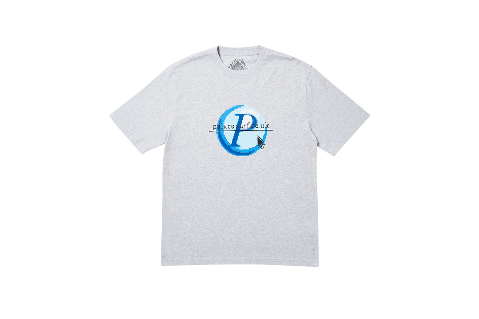 Palace 2019 Autumn T Shirt Log On grey marl