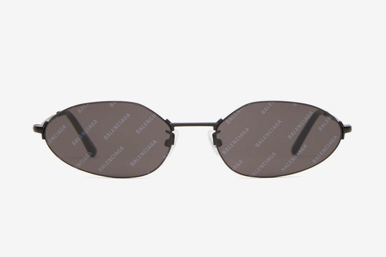 Logo-Lens Slimline Metal Sunglasses