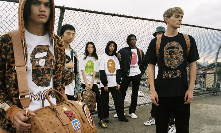 MCM BY BATHING APE T-Shirts Brown Bags Models Lookbook
