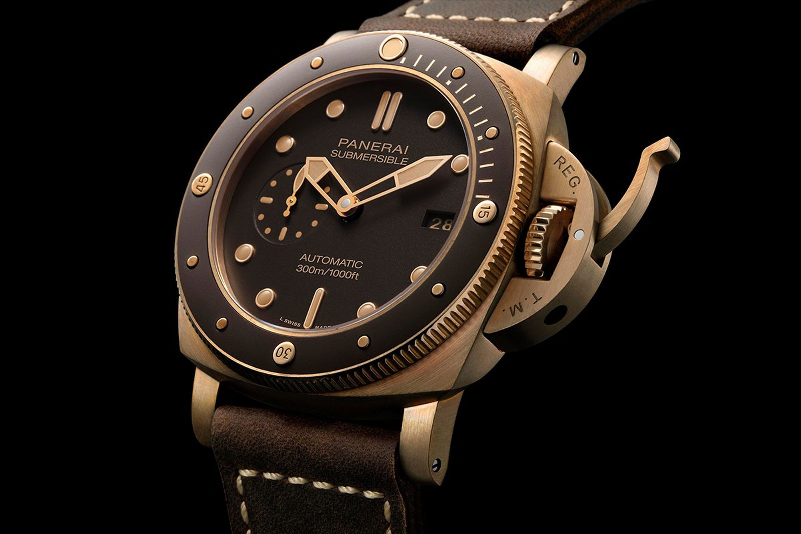 panerai submersible bronzo watch