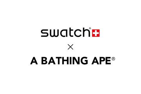 swatch bape big bold collaboration Adidas Futura KAWS