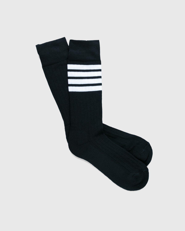 Thom Browne x Highsnobiety — Women's Mid-Calf Socks Grey - Image 3