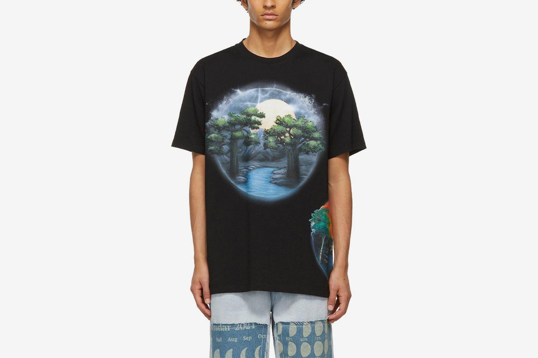 Paulas Ibiza Airbrush Print T-Shirt