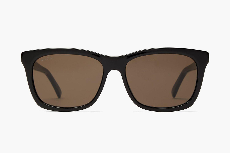 Web-Striped D-Frame Sunglasses