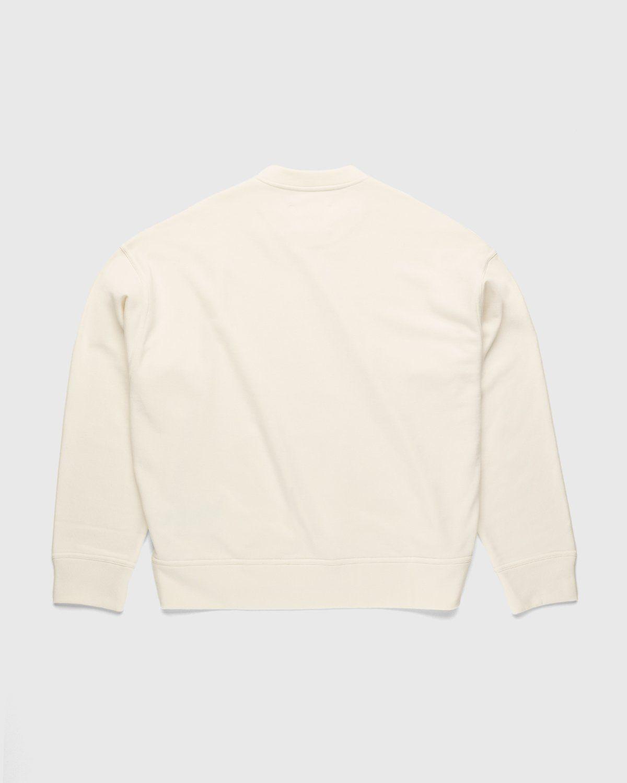 Jil Sander – Logo Sweater Natural - Image 2