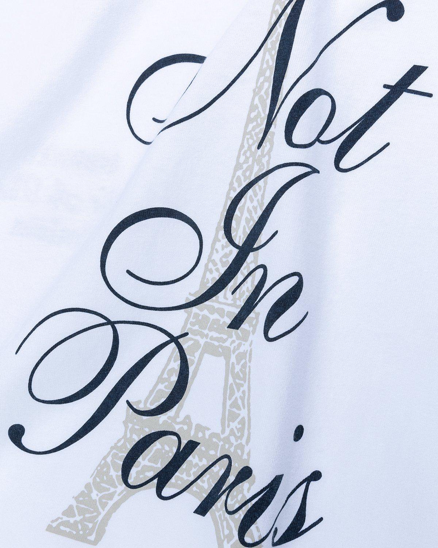 Highsnobiety — Not In Paris 3 Tour Eiffel T-Shirt White - Image 4
