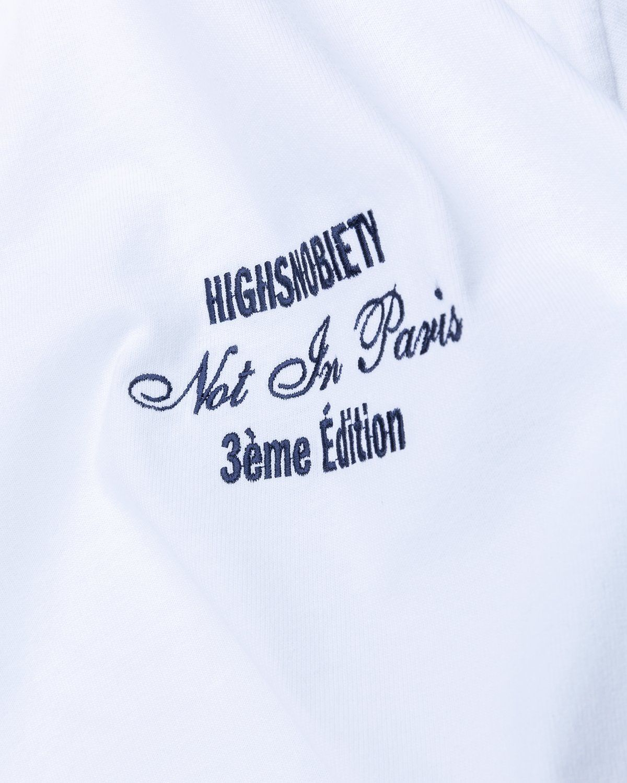 Highsnobiety — Not In Paris 3 Tour Eiffel T-Shirt White - Image 3